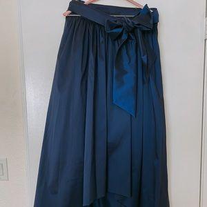 Eliza J. High-low Navy Blue Skirt